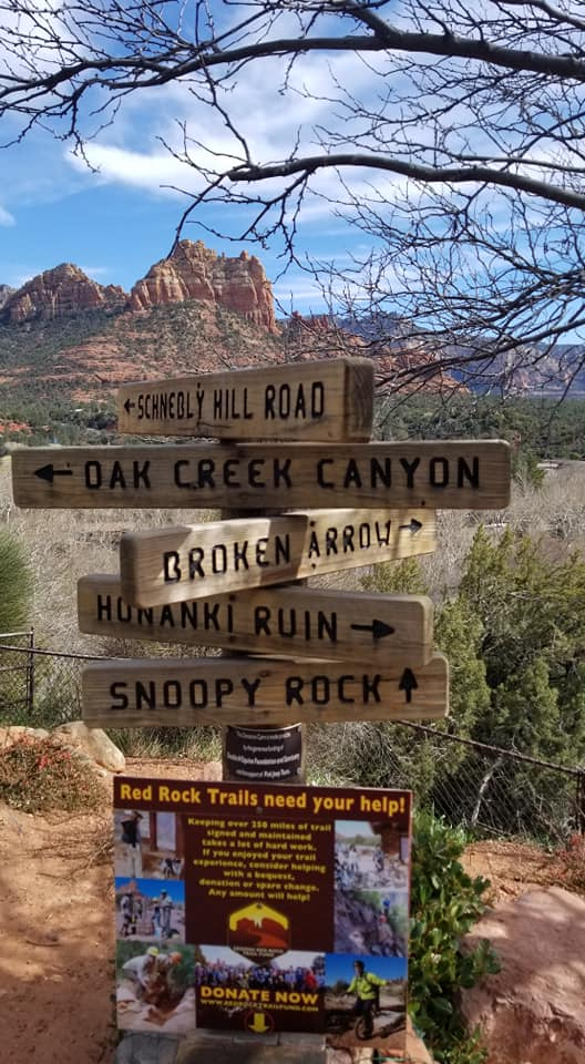 Trail and Scenic Route Sign - Sedona Arizona March 10th 2019 - Jacob Writes On